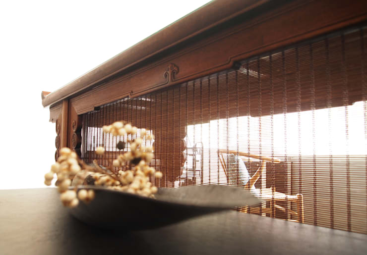 公益家具老件,老物重拾新生命:  客廳 by 青田中室內制作