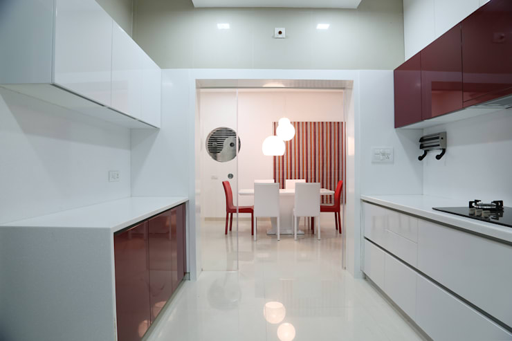Single Family Private Residence, Ahmedabad:  Kitchen units by A New Dimension