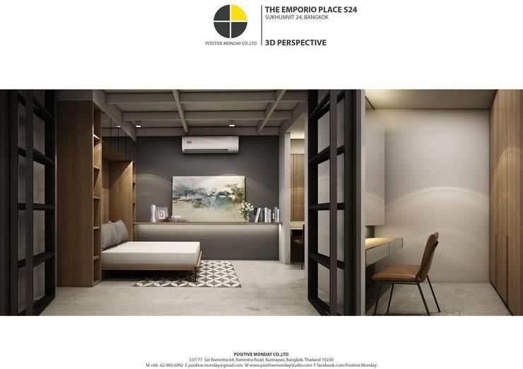 ออกแบบห้องชุด:   by Positive Monday Co.,Ltd.