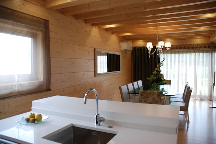 de Rusticasa Moderno Madera Acabado en madera