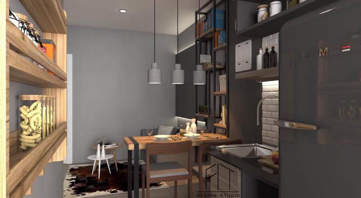 Condo Aspire sathorn-thapra:  ตกแต่งภายใน by Fit Design Studio