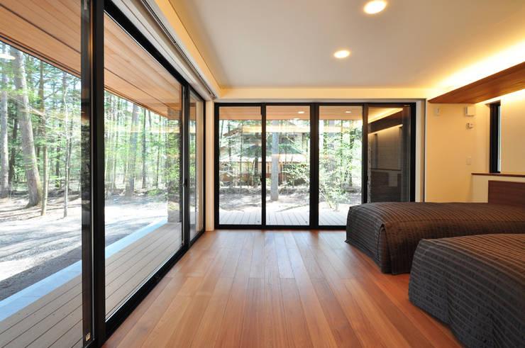 精進場川の家: 鎌田建築設計室が手掛けたサンルームです。