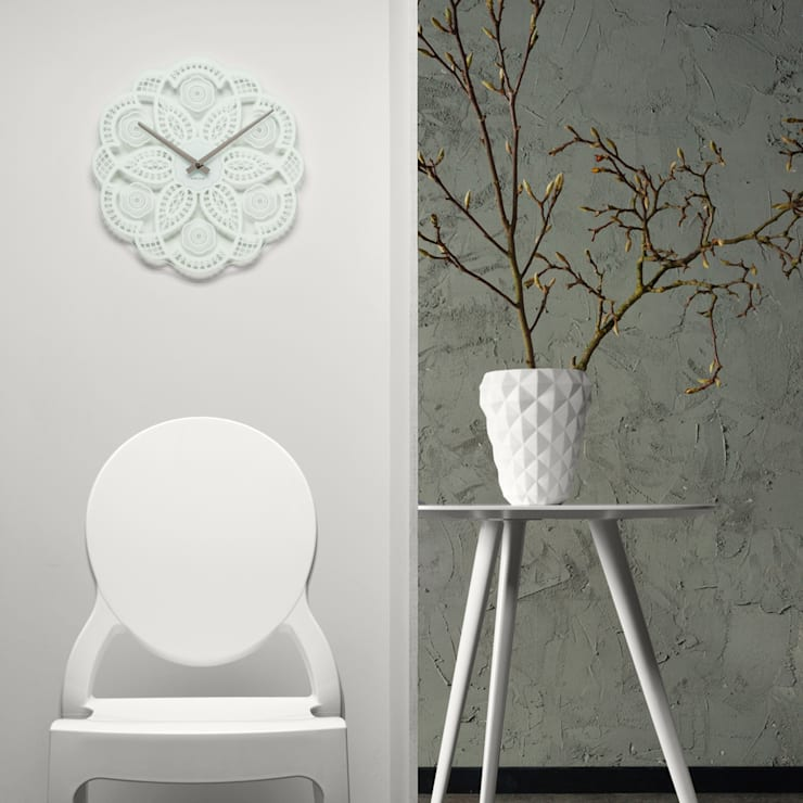Karlsson Lace Cutout Wall Clock: modern  by Just For Clocks,Modern Glass