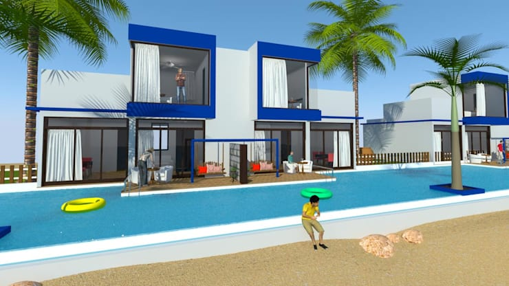 Modern Cottage:  Hotels by MRJ ASSOCIATES