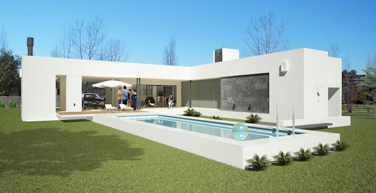 Casa CC – RESIDENCIA DE FIN DE SEMANA: Casas de estilo  por D'ODORICO OFICINA DE ARQUITECTURA