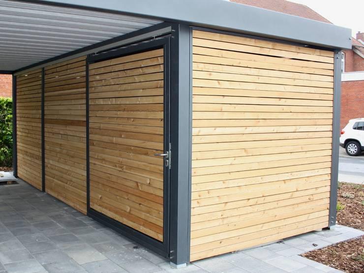 metallcarport mit ger teraum por carport schmiede gmbh. Black Bedroom Furniture Sets. Home Design Ideas