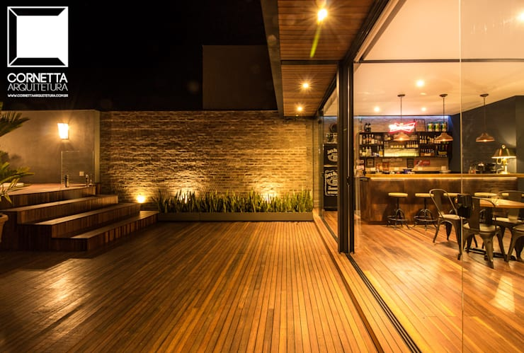 Minimalista: Casas industriais por Cornetta Arquitetura