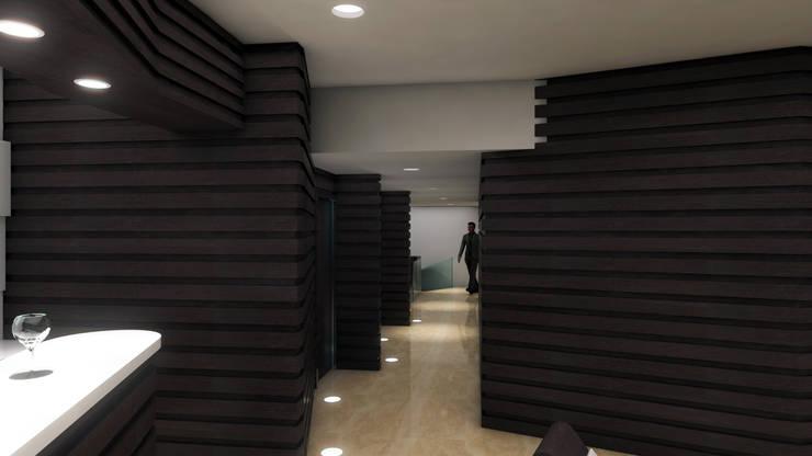 AREAS DE CIRCULACIÓN: Espacios comerciales de estilo  por OMAR SEIJAS, ARQUITECTO