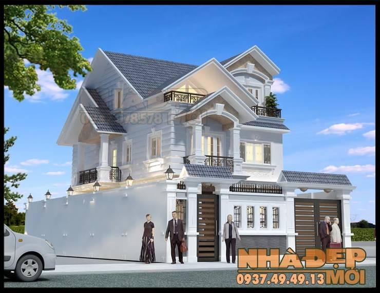 Đường nét trang trí mượt mà, uyển chuyển:  Biệt thự by Công ty TNHH TKXD Nhà Đẹp Mới