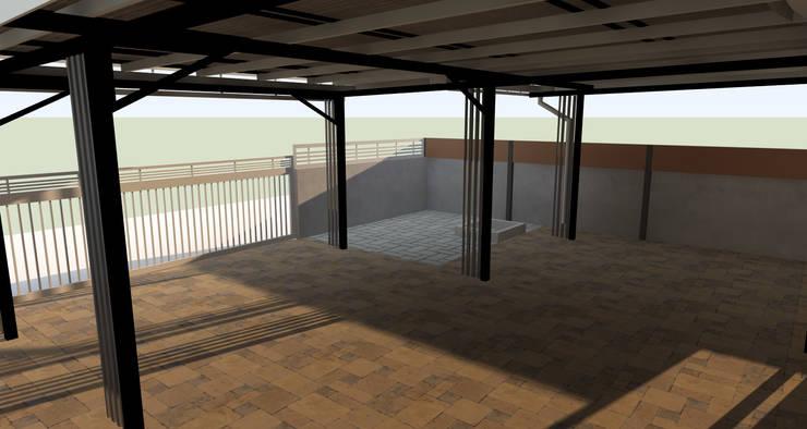 โชว์โครงสร้างเหล็ก:  บ้านและที่อยู่อาศัย by ออกแบบ เขียนแบบ ก่อสร้าง