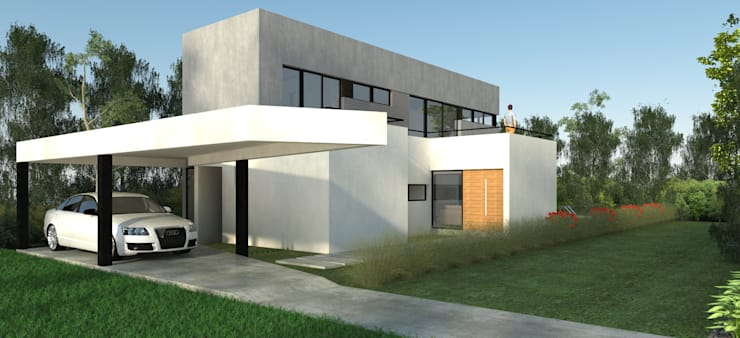 Vivienda La Plata: Casas de estilo  por IMAGENES MR