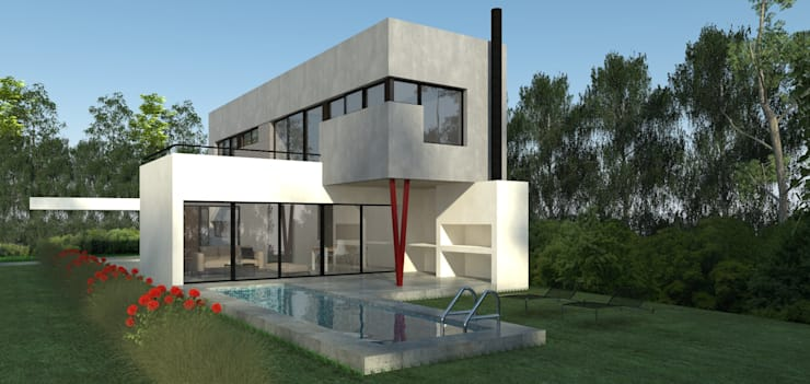 Vivienda La Plata: Jardines de estilo  por IMAGENES MR