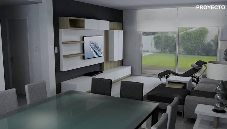 Proyecto de diseño interior de living comedor:  de estilo  por Fernan Etcheverry Diseño Interior,