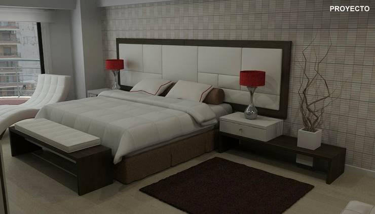 Proyecto dormitorio principal:  de estilo  por Fernan Etcheverry Diseño Interior,