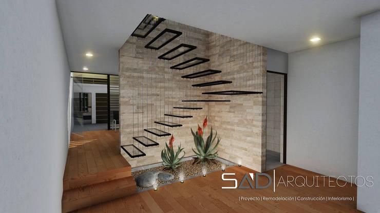 Escaleras: Pasillos y recibidores de estilo  por Studio Arch'D Arquitectos