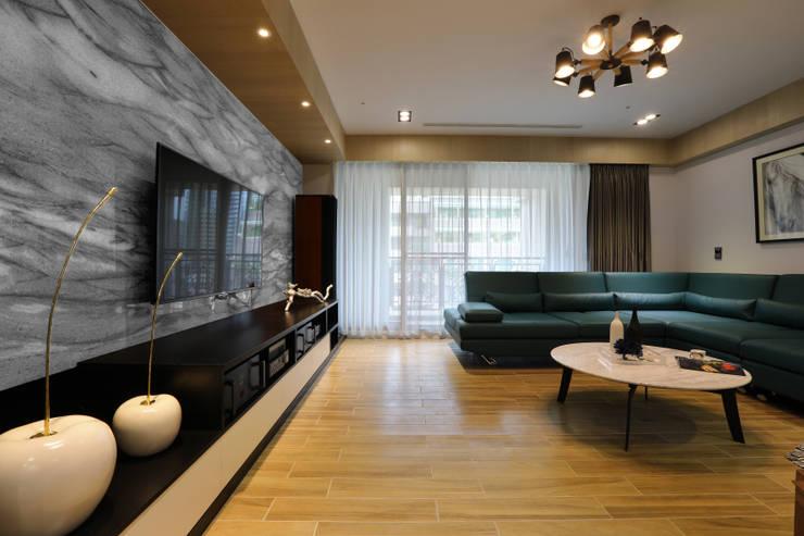 人文自然派的no.229舍-場景-客廳:  客廳 by 喬克諾空間設計