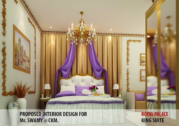 Residential Interiors: modern Bedroom by YUKTAME