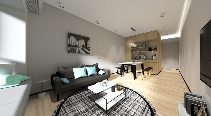Sorrento Tower: modern Living room by Artta Concept Studio