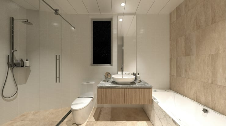 Sorrento Tower: modern Bathroom by Artta Concept Studio