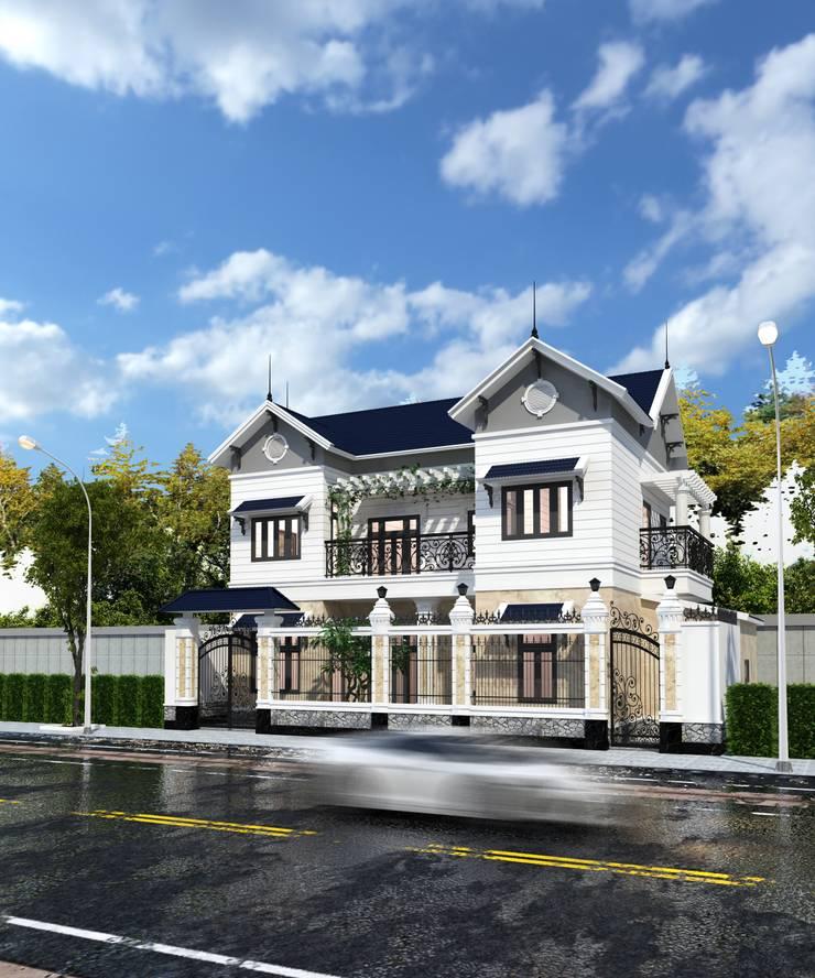 Villa Hồ Tải:  Nhà by Công ty Kiến trúc Á Âu
