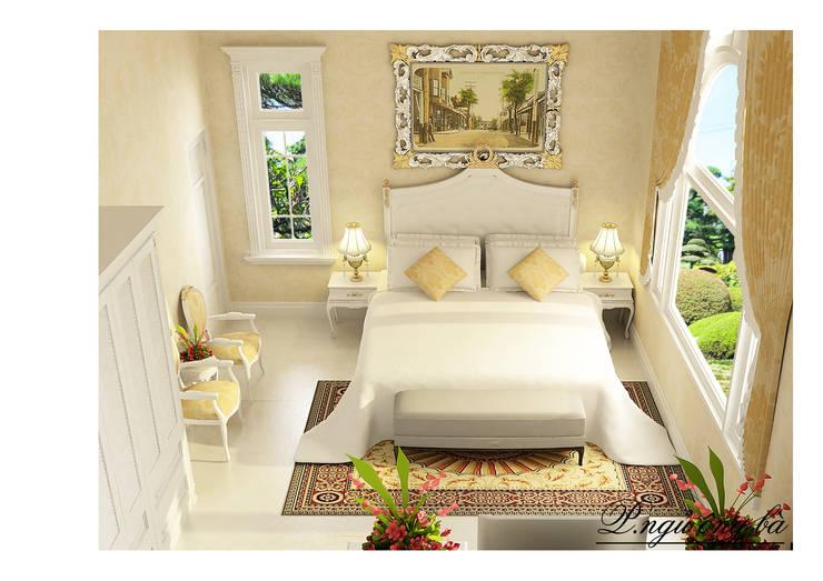 Phòng ngủ:  Nhà by Công ty Kiến trúc Á Âu