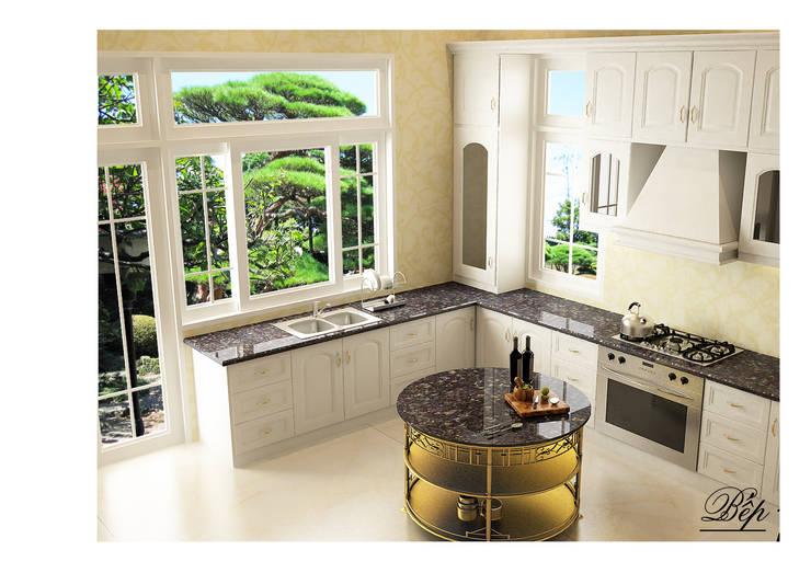 Bếp:  Nhà bếp by Công ty Kiến trúc Á Âu