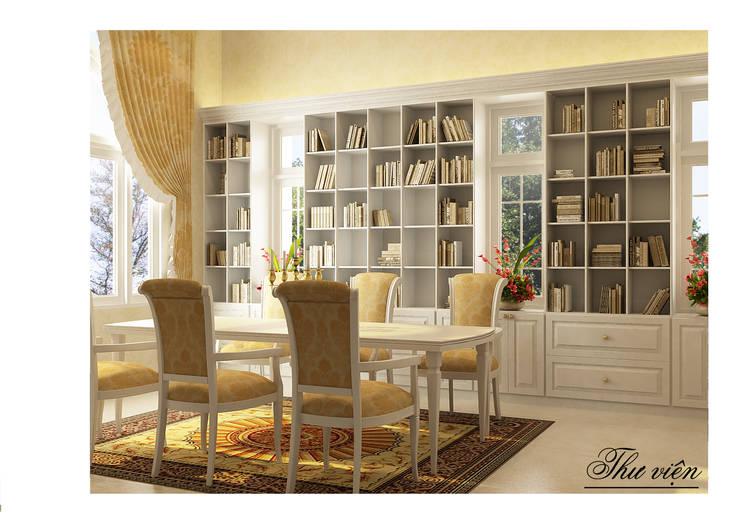 Thư viện:  Phòng khách by Công ty Kiến trúc Á Âu