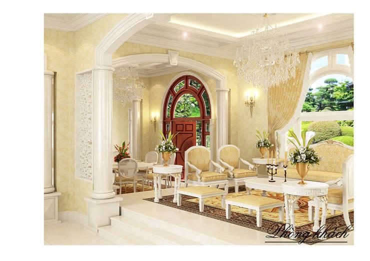 Phòng khách:  Phòng khách by Công ty Kiến trúc Á Âu