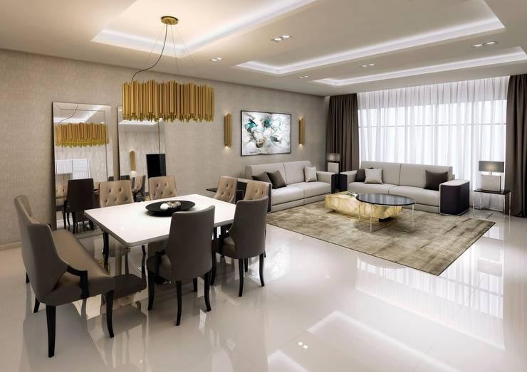 Colección Alexandra: modern Dining room by S. T. Unicom Pvt. Ltd.