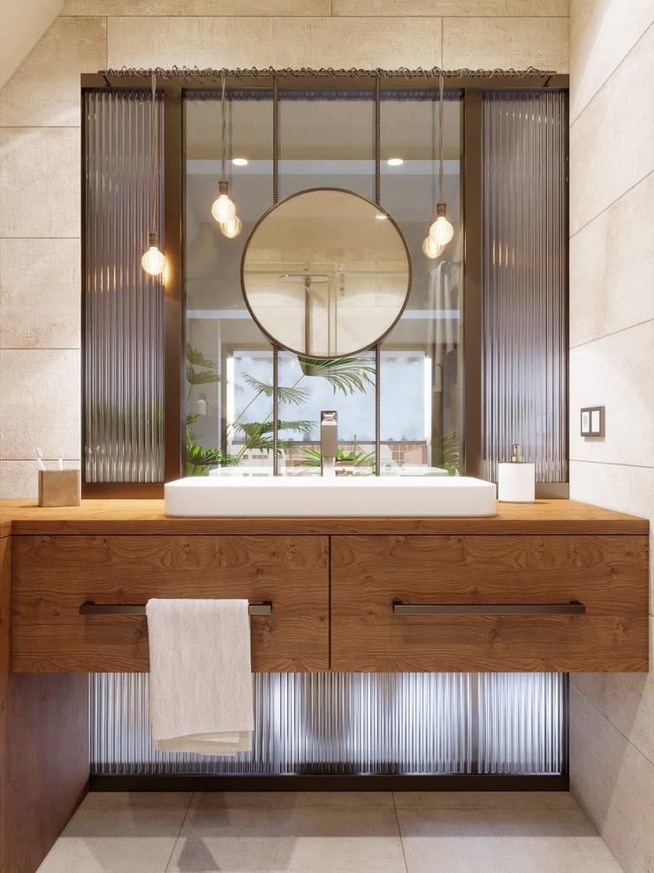Bathroom by Ёрумдизайн, Industrial Sandstone