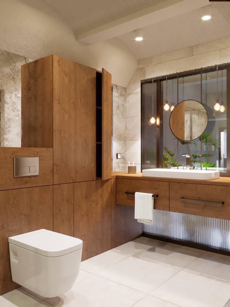 Bathroom by Ёрумдизайн, Industrial Wood Wood effect