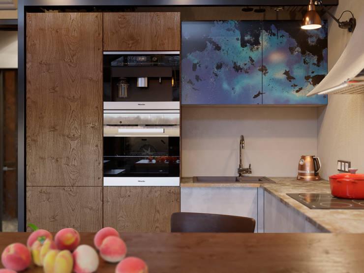 Built-in kitchens by Ёрумдизайн, Industrial Engineered Wood Transparent