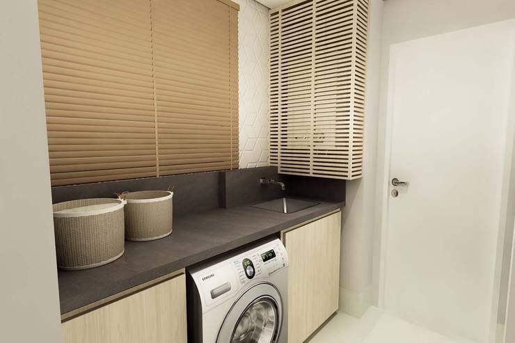 Lavanderia: Cozinhas modernas por Juliana Zanetti Arquitetura e Interiores