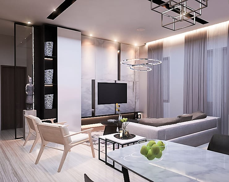 Bintaro House:  Ruang Keluarga by Vicasso Interior