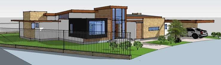 Vivienda Hadad: Casas unifamiliares de estilo  por Qarquitectura