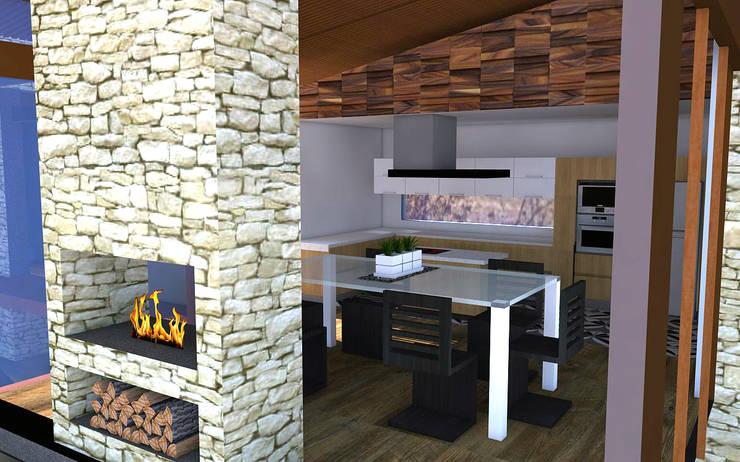 Proyecto Casa MV: Cocinas de estilo  por Qarquitectura