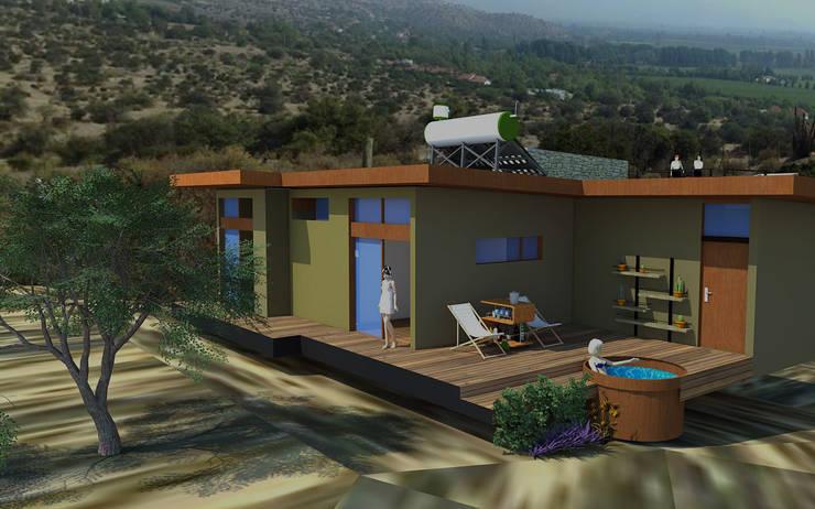 Proyecto Casa MV: Casas de estilo  por Qarquitectura