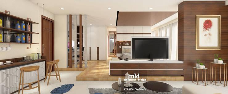 Master Bedroom Design Kelapa Gading - Mediterania:  Kamar Tidur by Multiline Design