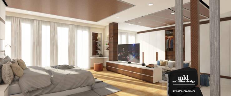 Master Bedroom Design Kelapa Gading – Mediterania:  Kamar Tidur by Multiline Design