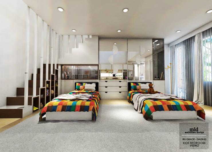 Kid's Bedroom Interior Design Kelapa Gading – Mediterania:  Kamar tidur anak by Multiline Design