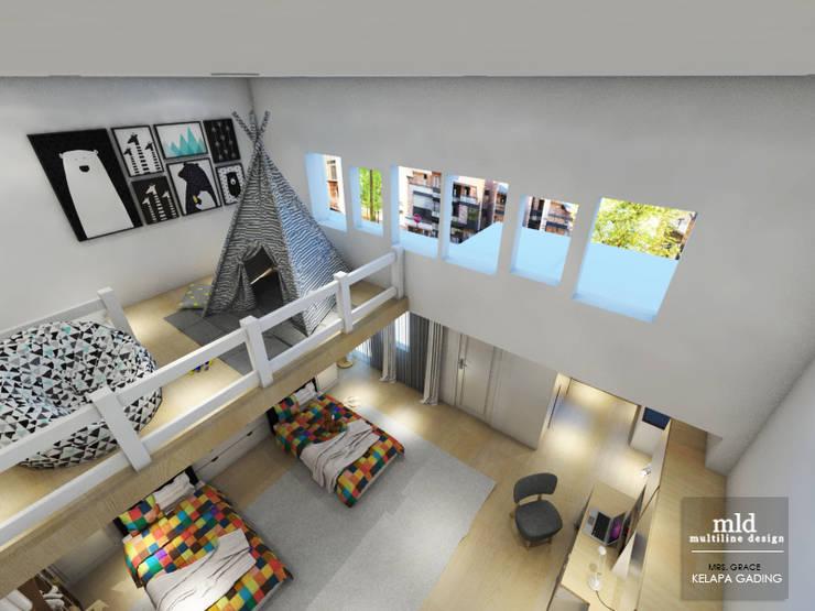 غرفة نوم مراهقين  تنفيذ Multiline Design
