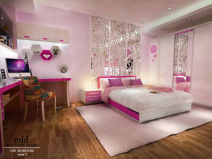 Final Design:  Kamar tidur anak perempuan by Multiline Design