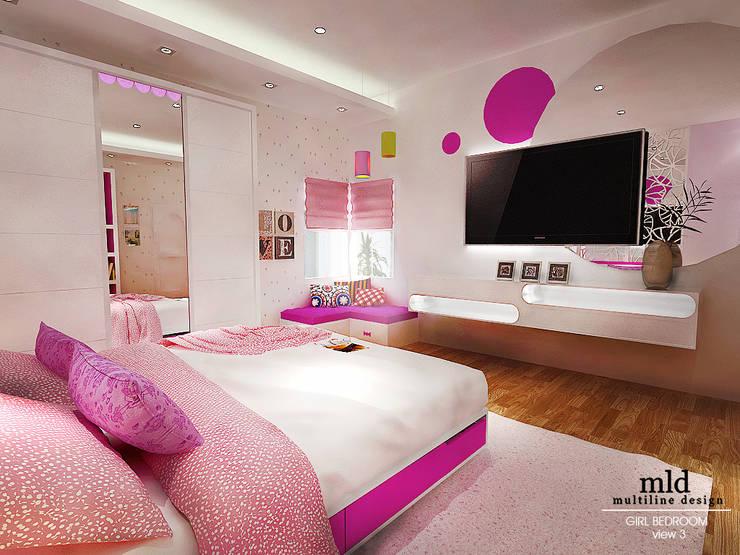 غرفة نوم بنات تنفيذ Multiline Design