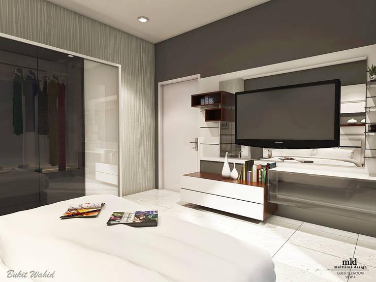 Guest Bedroom:  Kamar Tidur by Multiline Design