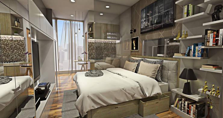 Studio Room - Puri Park View:  Kamar Tidur by Multiline Design