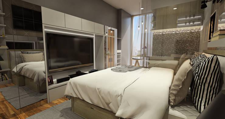Studio Room – Puri Park View:  Kamar Tidur by Multiline Design