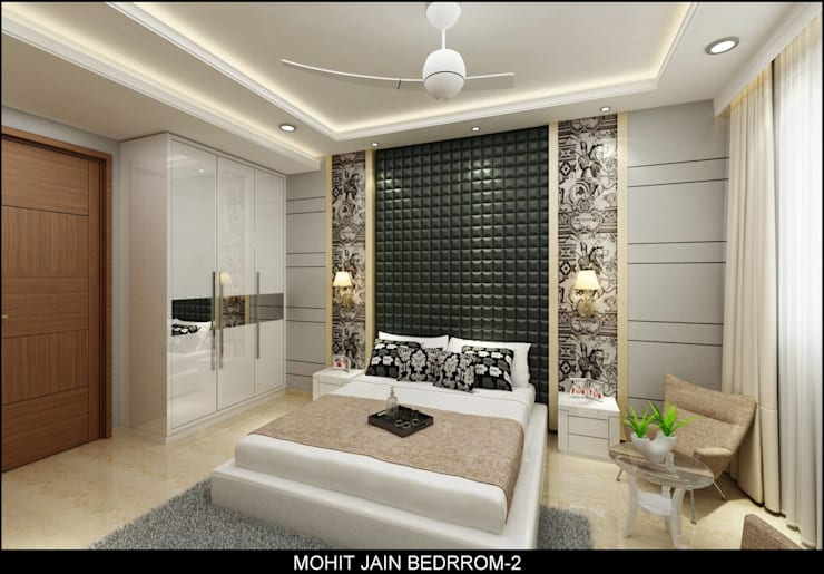 Residential Interior:  Bedroom by UDC Interiors