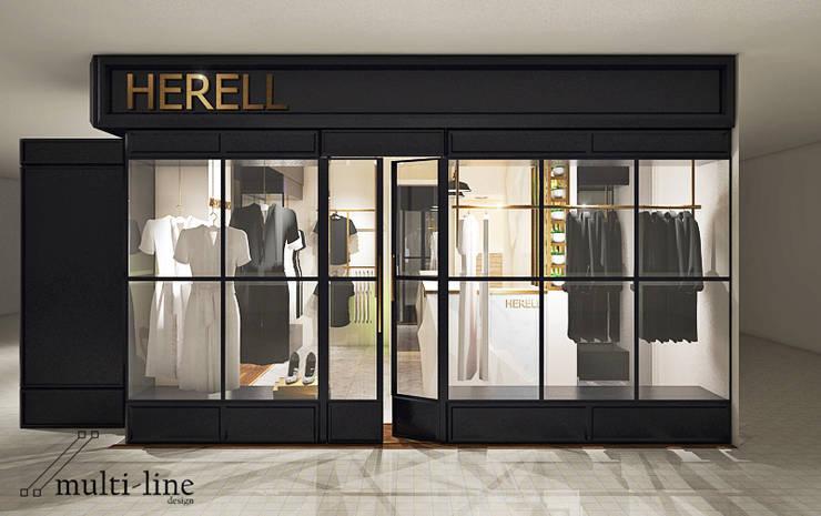 Herell Store – Mangga Dua:  Kantor & toko by Multiline Design