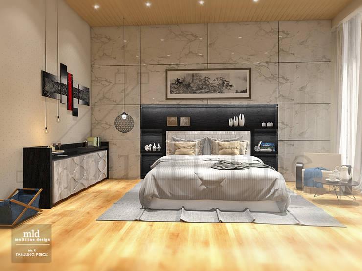 Master Bedroom – Tanjung priok:  Kamar Tidur by Multiline Design