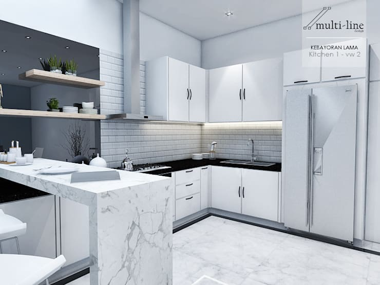 Kitchen Kebayoran Lama:  Dapur built in by Multiline Design